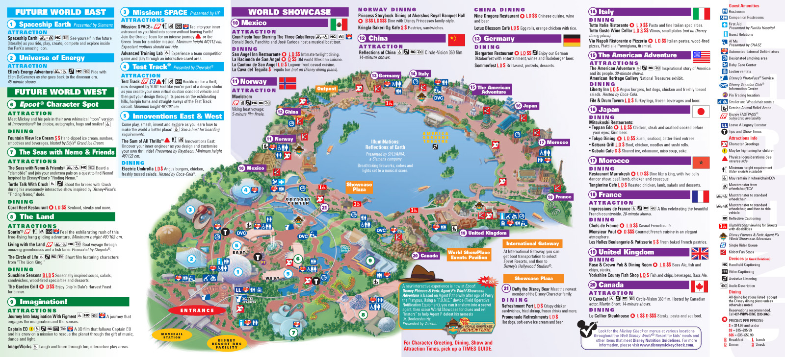 Disney World Epcot Map 2013