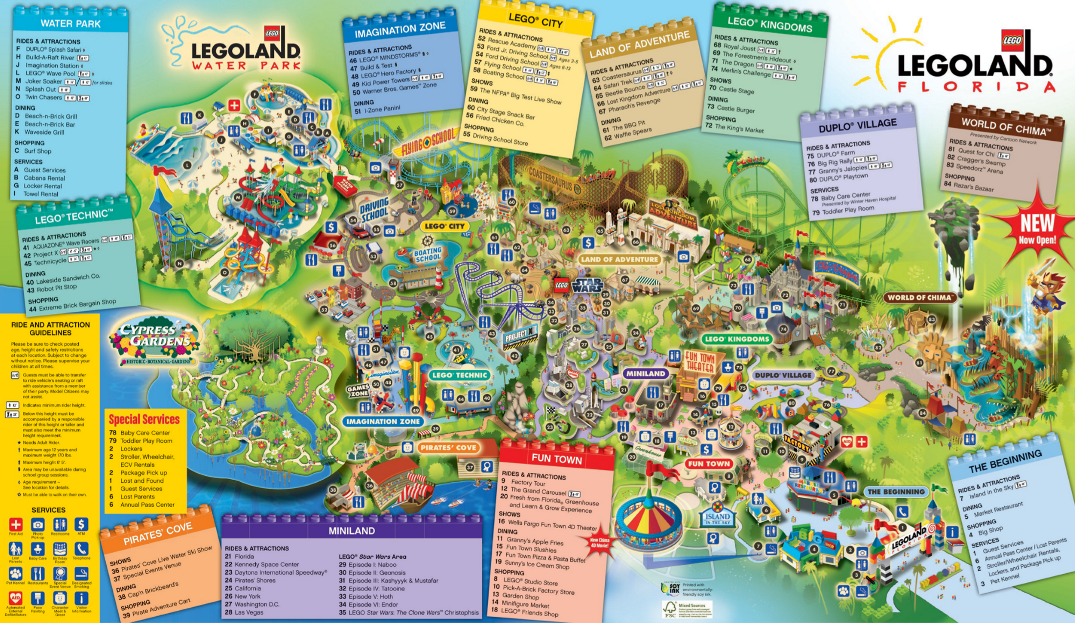 Pics Photos  Map For Legoland Florida Which Includes The