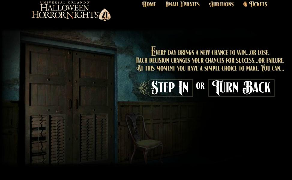 Behind the Thrills   Step in or Turn Back! New Game hits Halloween ...