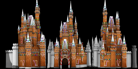 Gingerbread Disney Castle Information Keywords And Pictures