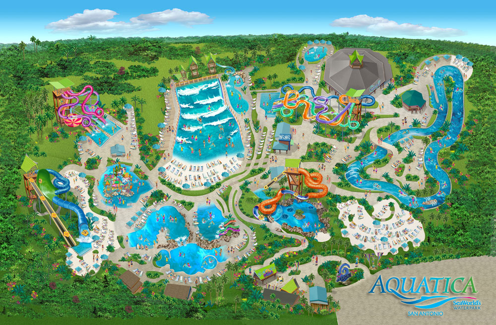 Behind The Thrills | Aquatica Texas reveals their map