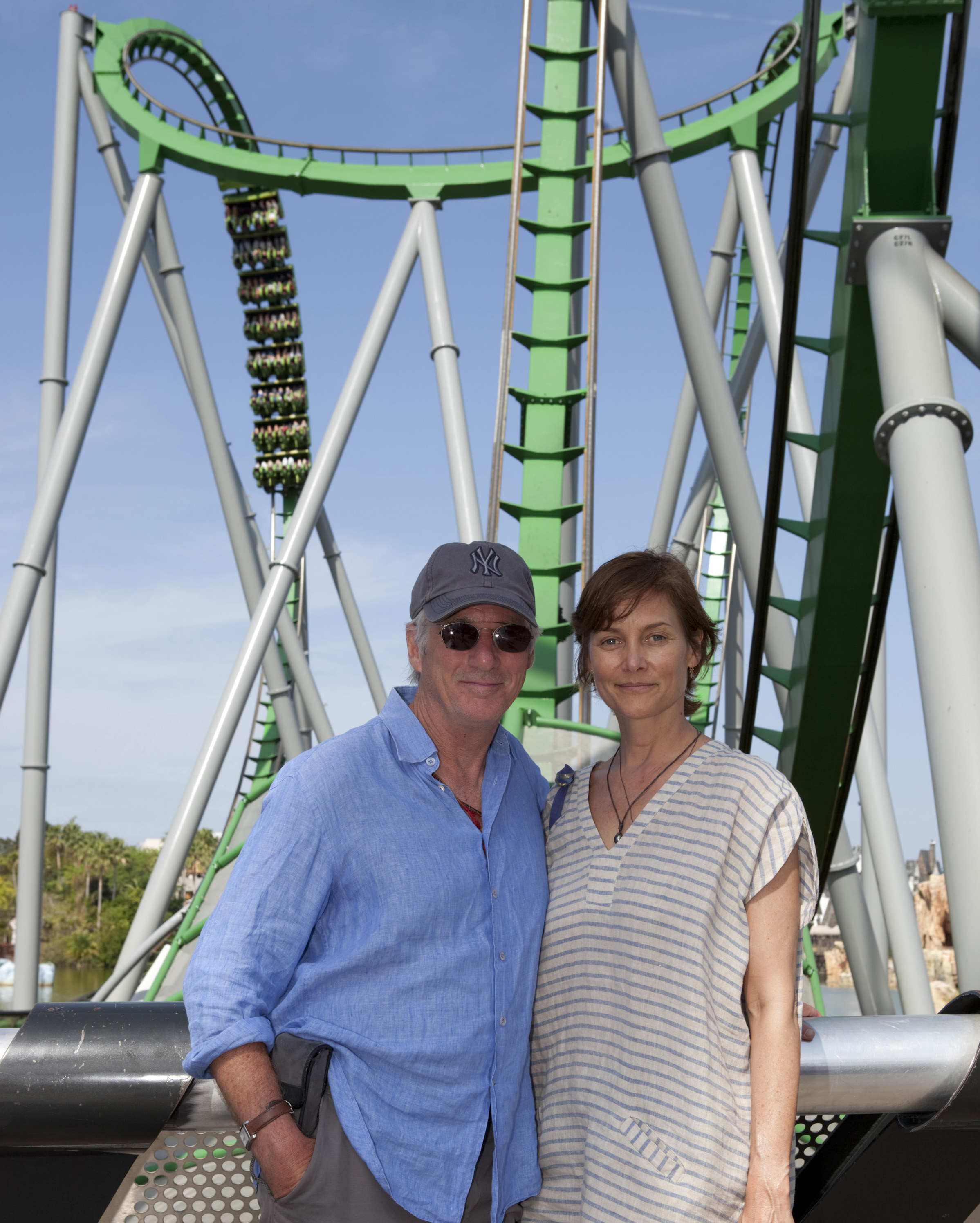 Richard Gere with his wife at Universal Orlando's The Hulk
