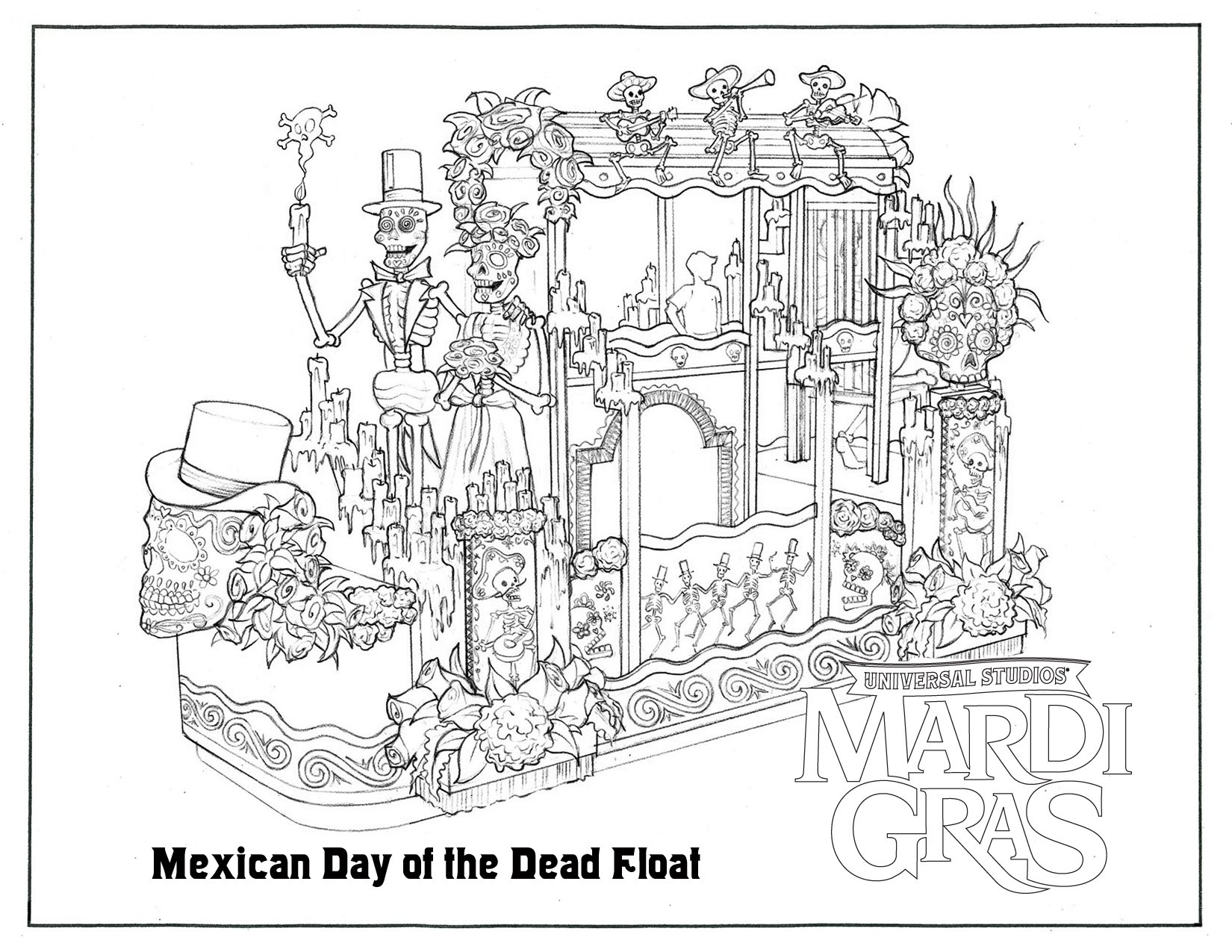 coloring pages of mardi gras - behind the thrills get the little jesters ready for