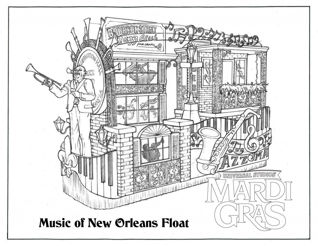new orleans jazz coloring pages - photo#1