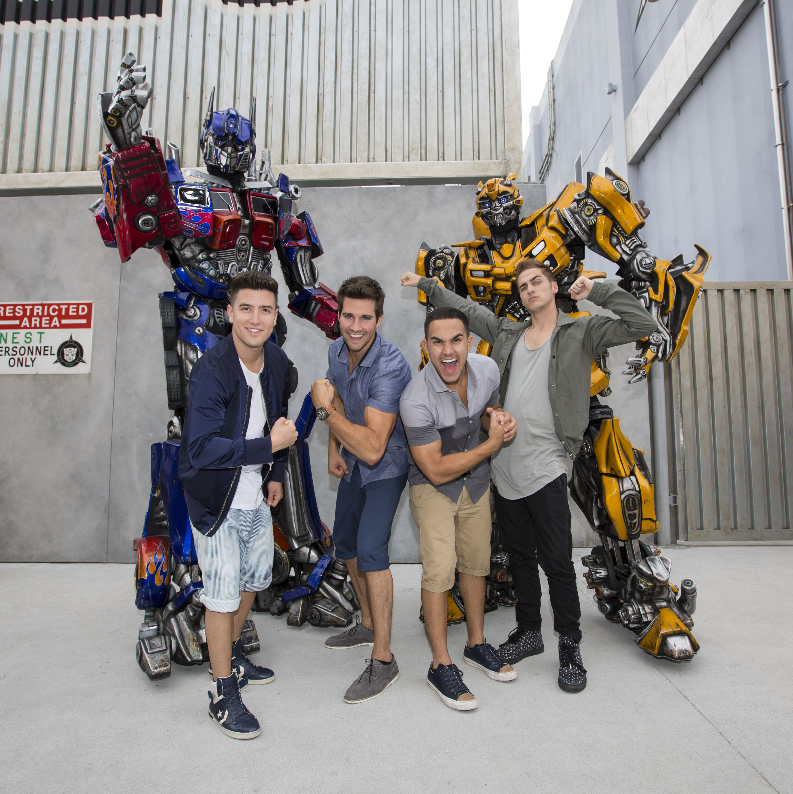 Transformers Bands: Big Time Rush Prepares For Battle