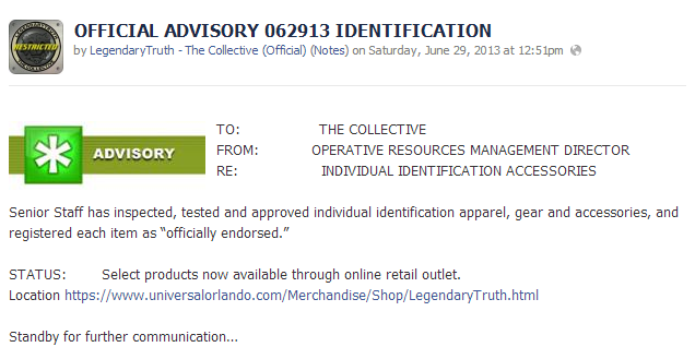OFFICIAL ADVISORY 062913 IDENTIFICATION