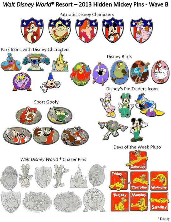 disney world summer 2013 pins