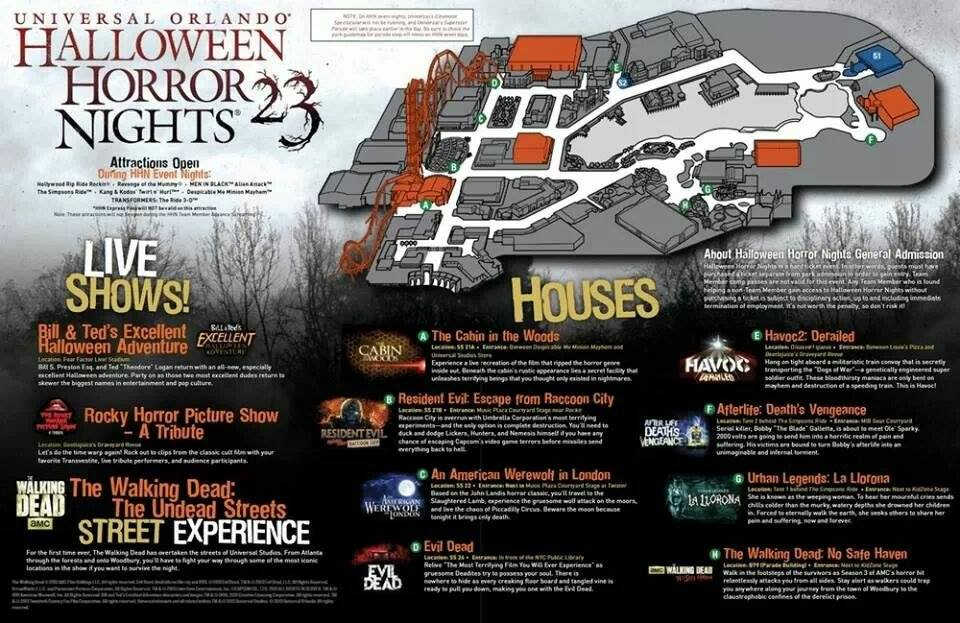 Behind the Thrills | Halloween Horror Nights 23 map revealed for ...