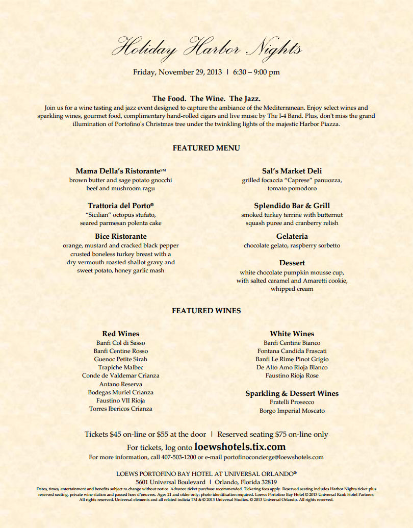 Holiday-Harbor-Nights-2013-Menu