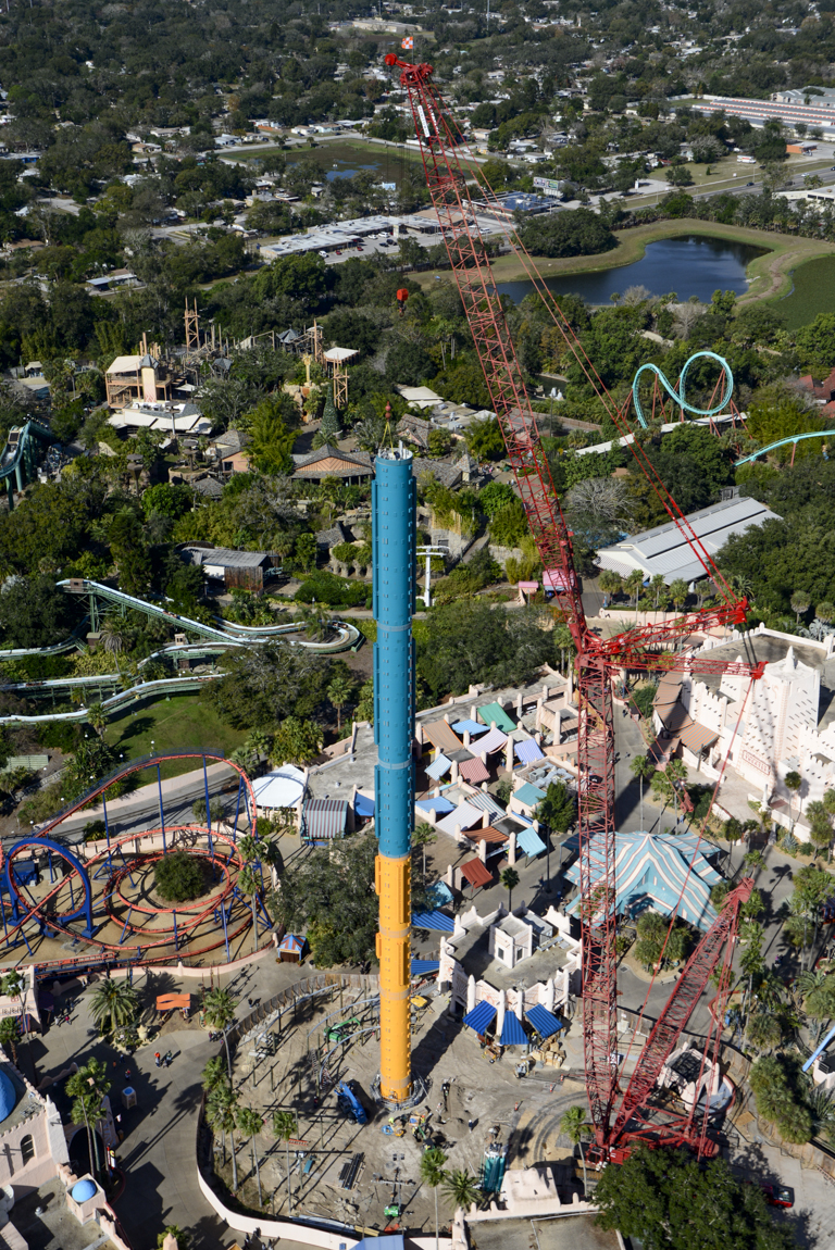 Behind the thrills falcon s fury reaches 300 feet as How far is busch gardens from orlando
