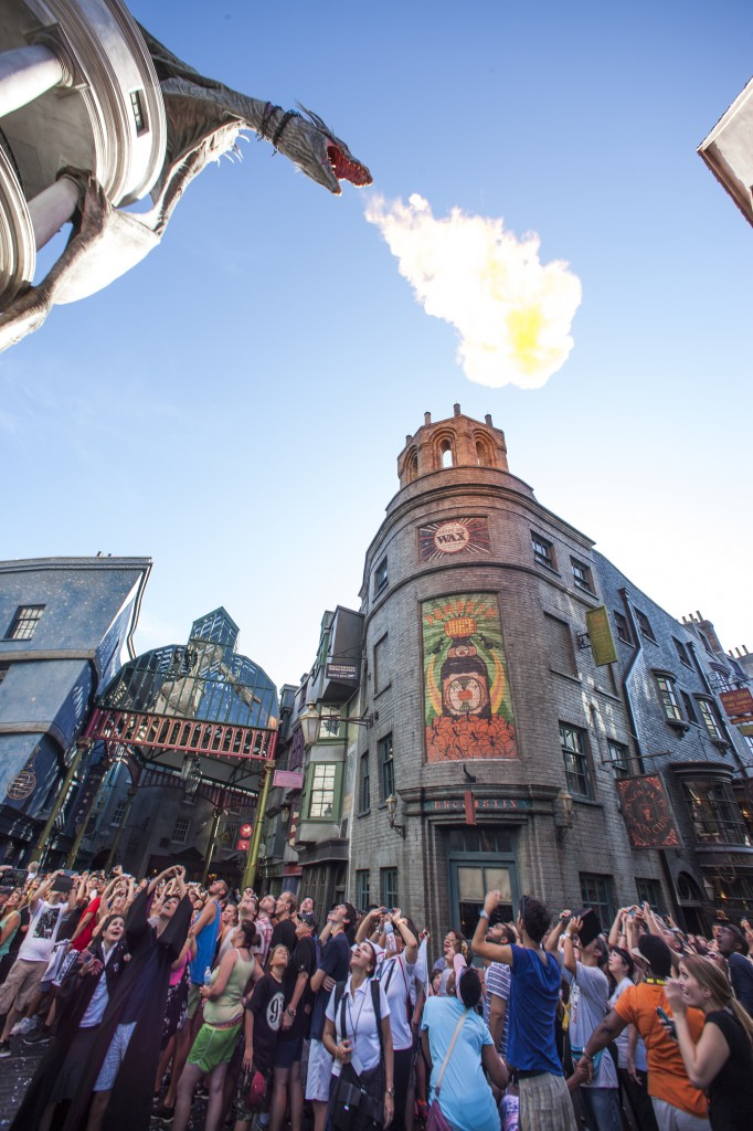 Universal Orlando Resort officially opened The Wizarding World of Harry Potter Ð Diagon Alley today, July 8, at Universal Studios Florida.