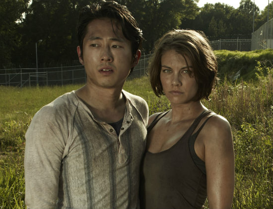 Steven-Yeun-Lauren-Cohan-The-Walking-Dead-Season-3-AMC