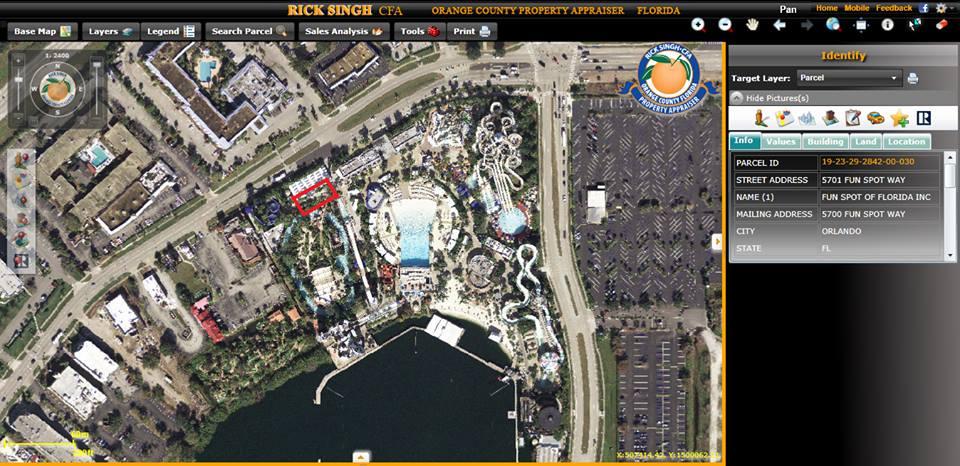 location 1 wet n wild aerial