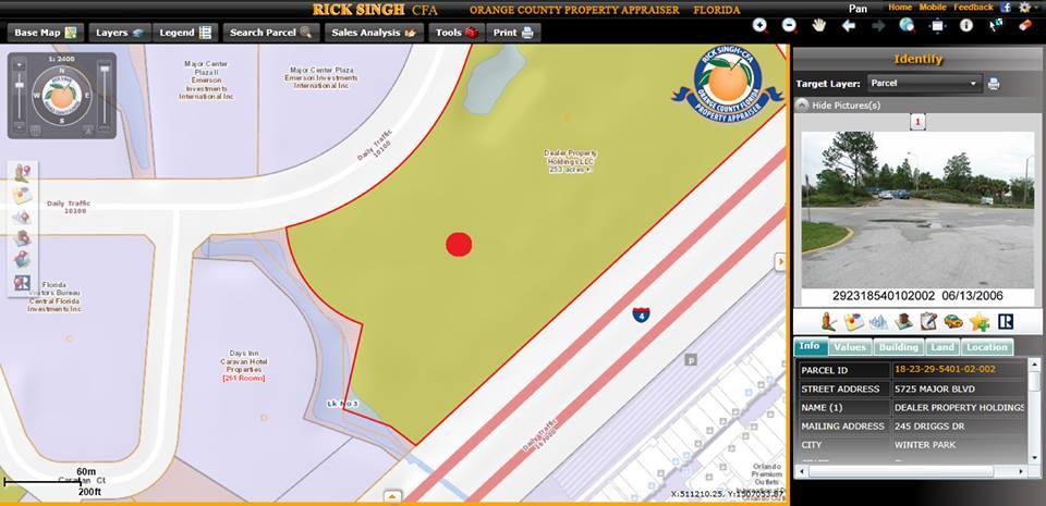 location 3 outlet parcel