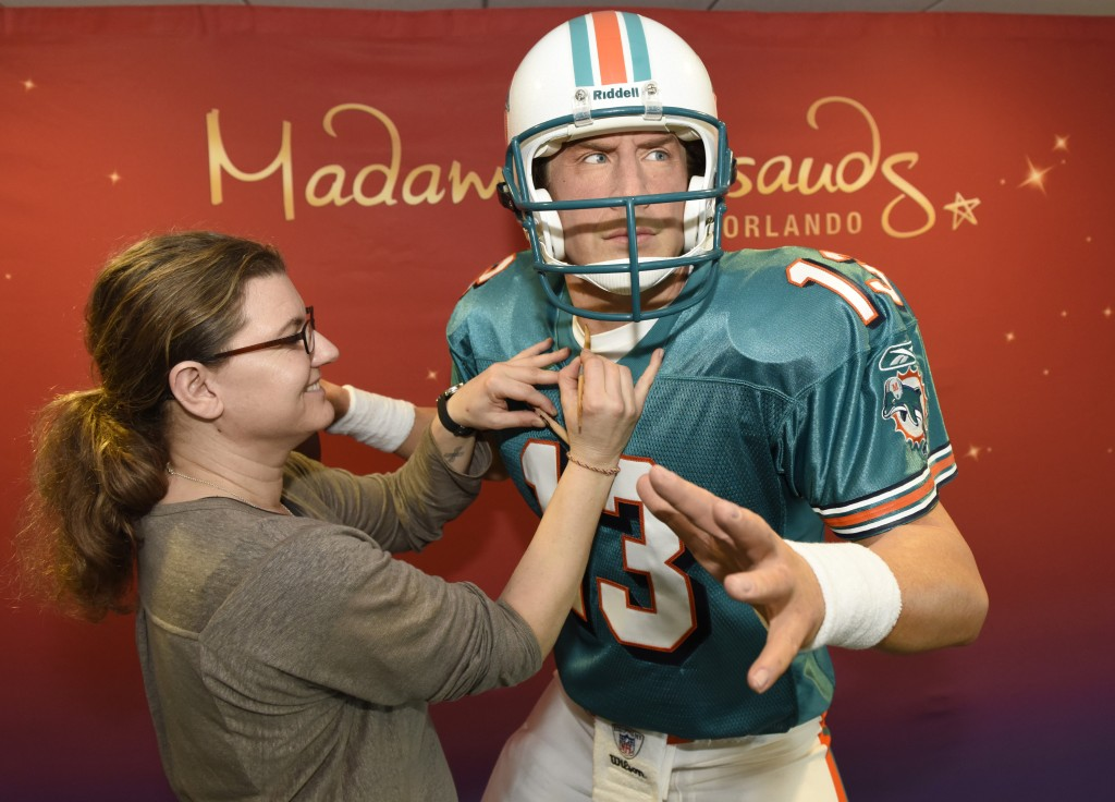 Petra van der Meer, Madame Tussauds,  works on the Dan Marino figure