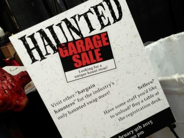 hauntcon 2015 haunted garage sale