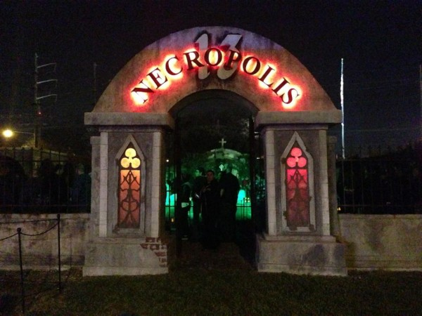 hauntcon 2015 necropolis 13 entrance