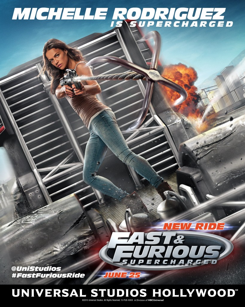 Fast Furious-Supercharged Michelle Rodriguez  ride poster