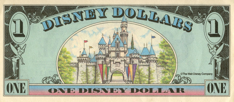 The back of a Disney Dollar, scanned by Michael Madiberg (Creative Commons license)