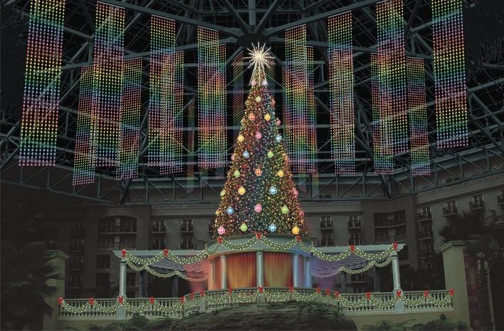 Tree with ornaments Rainbow Night