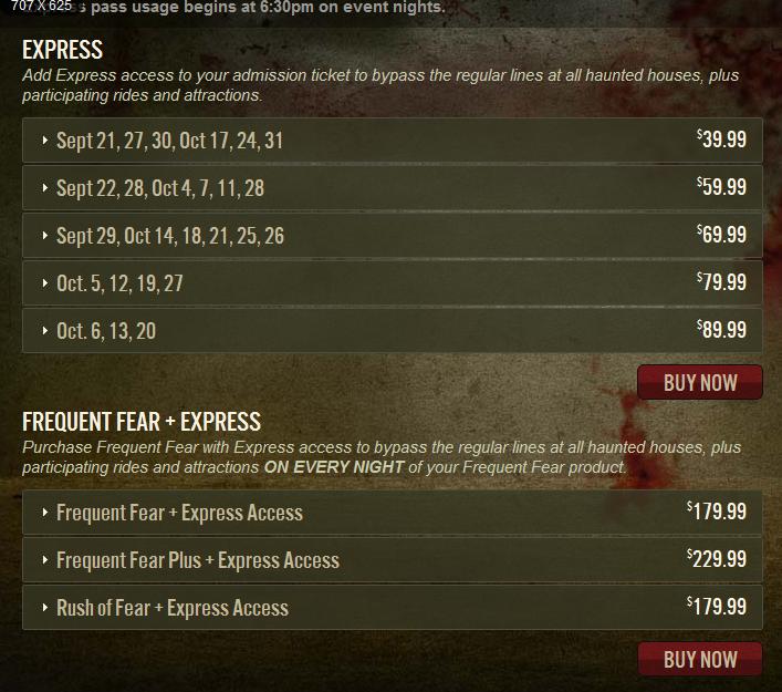 Halloween Horror Nights Hollywood Tickets