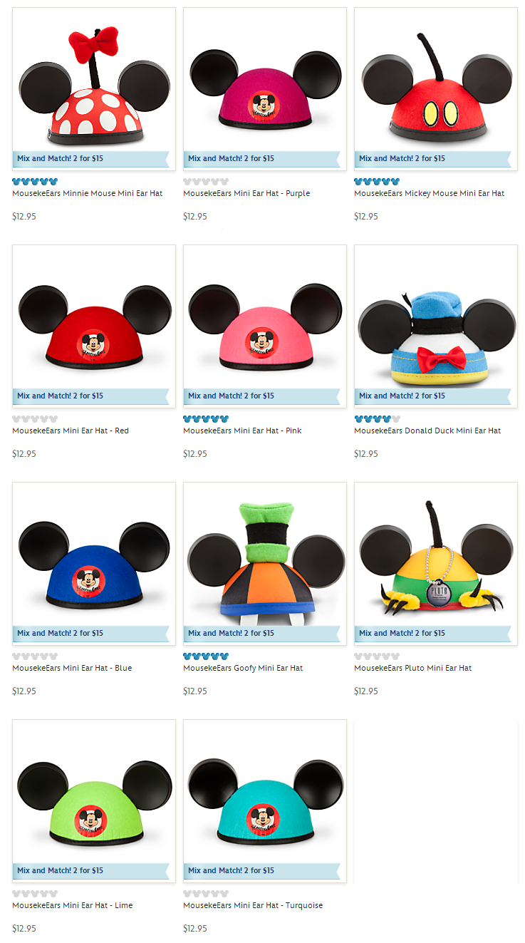 Behind The Thrills March S Year Of The Ear Hats Focus On Bright Colors And Disney Characters Behind The Thrills