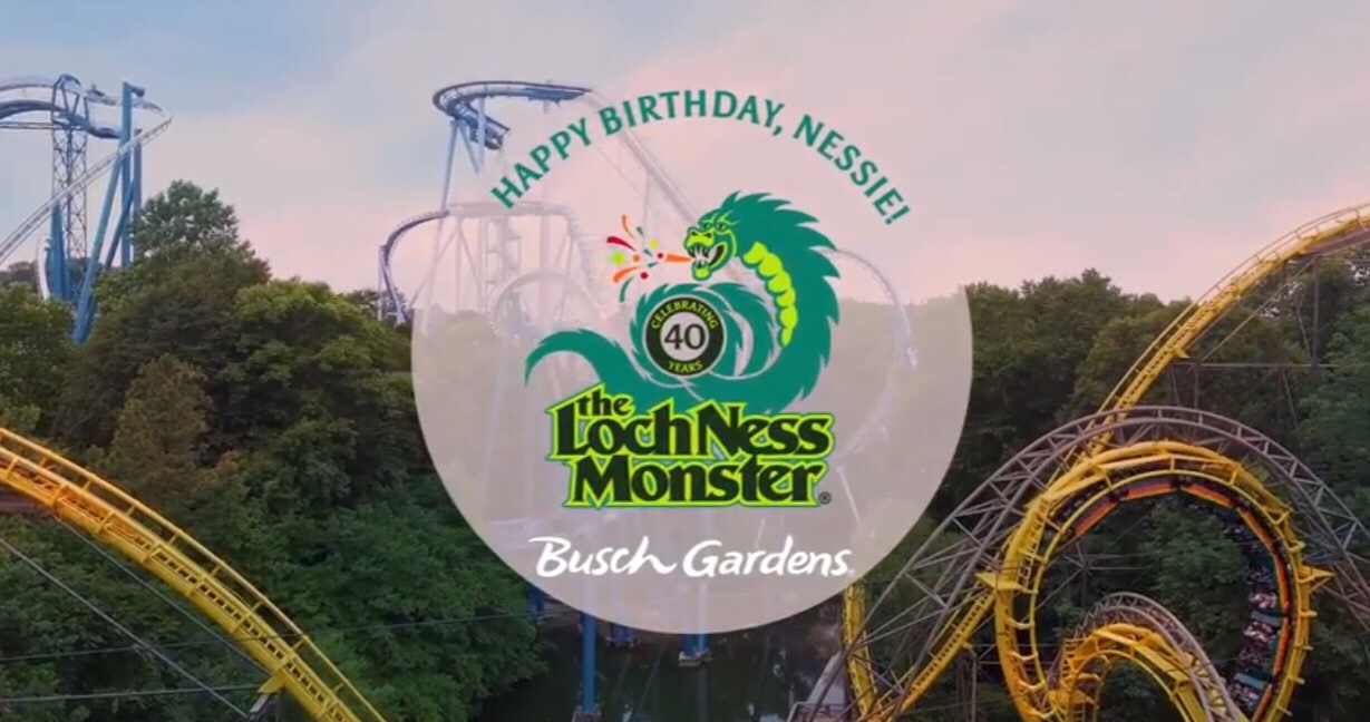 Lochness Monster Celebrates 40 Years At Busch Gardens Williamsburg With  Special Deals And Surprises