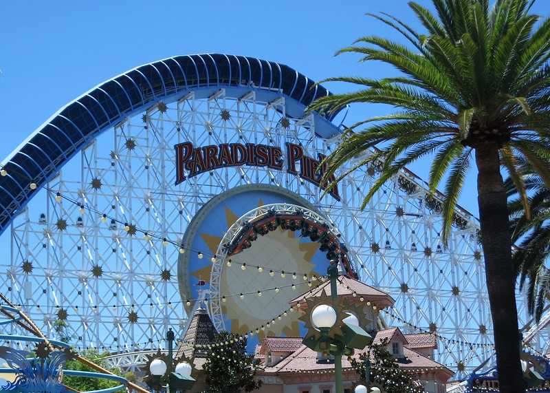 roller coaster formerly known as California Screamin' at Paradise Pier