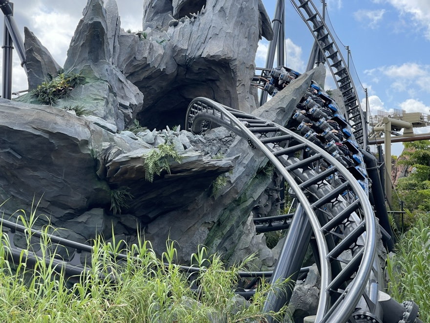 Rockwork on the VelociCoaster, Universal Studios Florida, Islands of Adventure