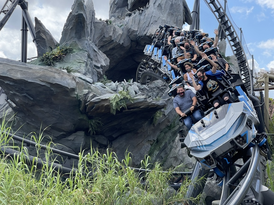 VelociCoaster Review, Islands of Adventure new ride.