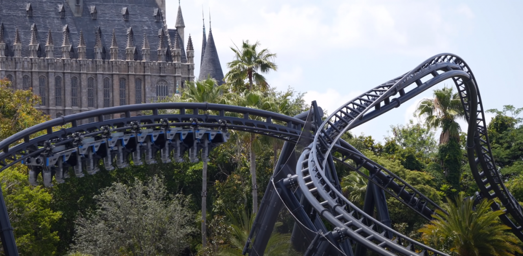 Roller Coaster,  Islands of Adventure New 2021 VelociCoaster and Hogsmeade
